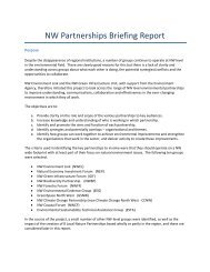 NW Partnerships Briefing Report - Green Infrastructure North West