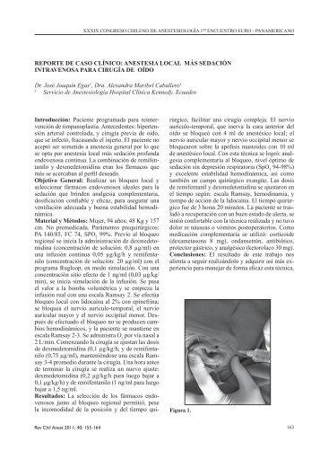 Anestesia Local más Sedación Intravenosa para Cirugía de Oído