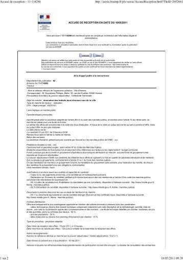 Accusé de reception - 11-114286 - Ville de Harnes