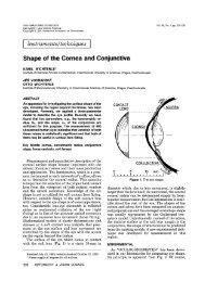 Shape of the Cornea and Conjunctiva