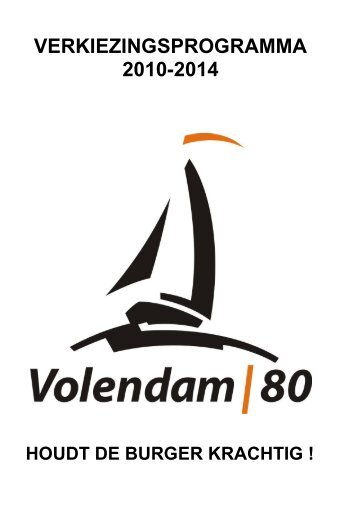 VERKIEZINGSPROGRAMMA 2010-2014 - Volendam|80