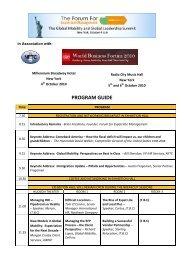 PROGRAM GUIDE - Forum for Expatriate Management