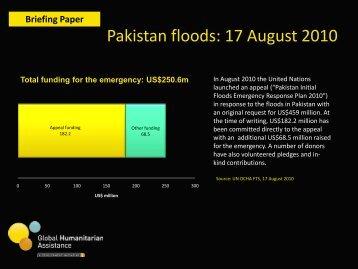 Pakistan floods update-17 August 2010 - Global Humanitarian ...
