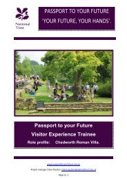passport to your future - National Trust: Welcome