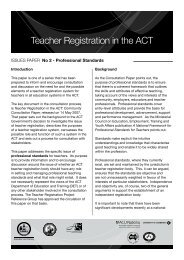 Teacher Registration in the ACT - Education and Training ...