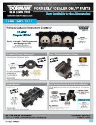 FEBRUARY (Click Here) - Dorman Products