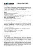 Pravidla soutěže - SPŠ Josefa Gočára - KB - BLOK systém, sro - Page 2