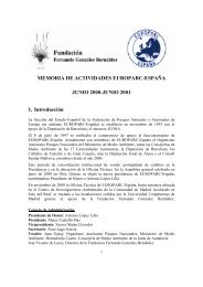 Memoria 2000 - 2001 - EUROPARC-España