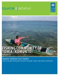 FISHING COMMUNITY OF TOMIA (KOMUNTO) - UNDP