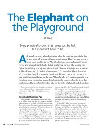 The Elephant on the Playground - National Association of ...