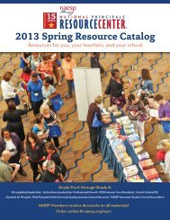 2013 Spring Resource Catalog - National Association of Elementary ...