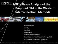 NREL/Plexos Analysis of the Proposed EIM in the Western ...