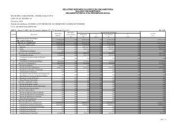 Relatório Resumido da Execução Orçamentária 1º bimestre 2013