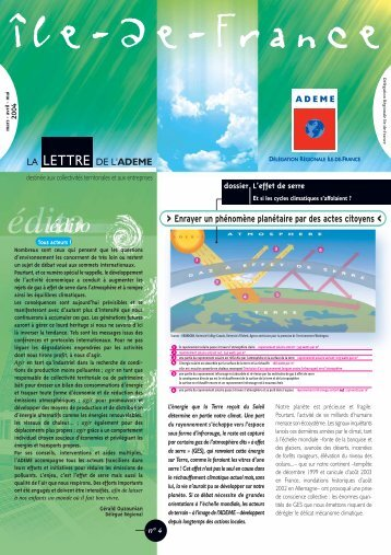 mars / avril / mai 2004 - Ademe Ile de France