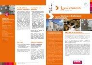 Plaquette Licence professionnelle Gestion et traitement des déchets