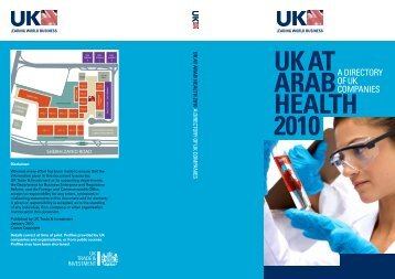 UK at aRaB HEaLtH 2010 - Association of British Healthcare Industries