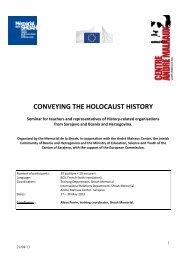 Program Seminar for Bosnia and Herzegovina 2013