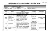 Prijava plana trajne edukacije za medicinske sestre