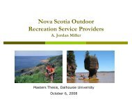 Outdoor Recreation Service Providers and Market Demand: A look ...