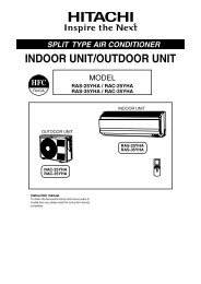RAS-25YHA2.indd - Hitachi Air Conditioning Products