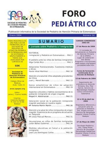 PEDIÁTRICO - Sociedad de Pediatría de Atención Primaria de ...