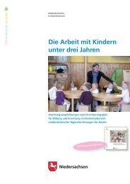 Die Arbeit mit Kindern unter drei Jahren - Niedersächsisches ...
