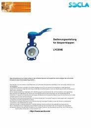 Lycene Absperrklappe - SOCLA