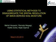Using statistical methods to disaggregate the spatial ... - SMAP