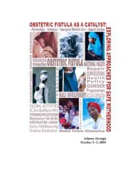 Meeting Report Obstetric Fistula as a Catalyst - Campaign to End ...