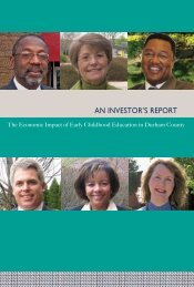 2007 Investors Report - Durham's Partnership for Children