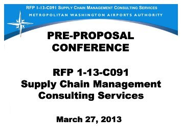Preproposal Conference Presentation - March 27, 2013