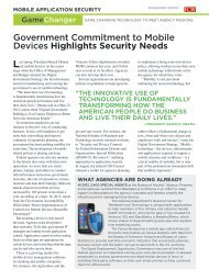 Government Commitment to Mobile Devices Highlights ... - AT&T