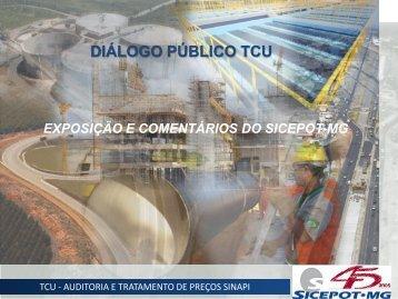 Dialogo com TCU - sicepot-mg