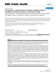 The family as a determinant of stunting in children living in ...