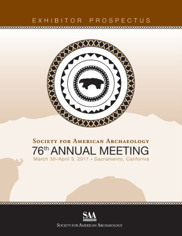 76th ANNUAL MEETING - Society for American Archaeology