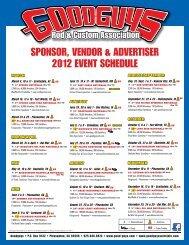 sponsor, vendor & advertiser 2012 event schedule - Sema