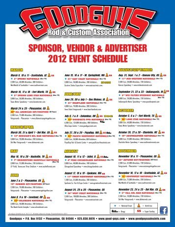 sponsor, vendor & advertiser 2012 event schedule - Sema