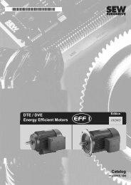 DTE / DVE Energy Efficient Motors Catalog - SEW-Eurodrive