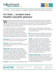 Healthy sexuality glossary - National Sexual Violence Resource ...