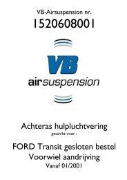 Achteras hulpluchtvering FORD Transit gesloten bestel Voorwiel ...