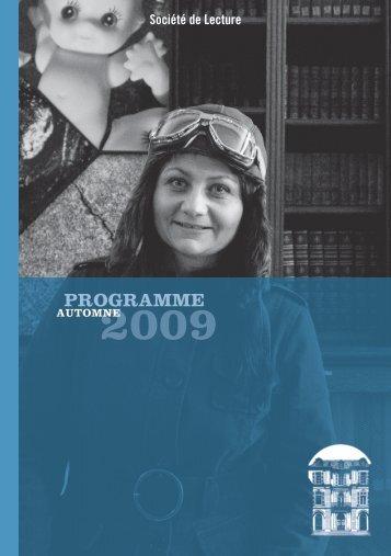 """PDF """"Automne/Hiver"""" - Societe de Lecture Geneve"""