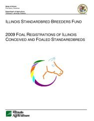 2009 Annual Foal Registrations of Illinois Conceived and Foaled