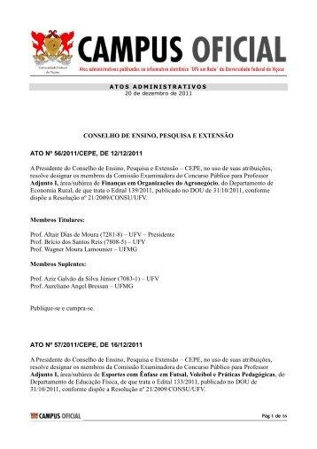 Atos Administrativos 20.12.2011 - DTI- Diretoria de Tecnologia da ...