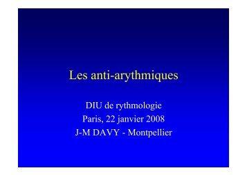 Les anti-arythmiques