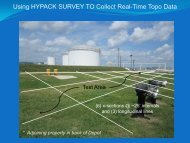 Using HYPACK SURVEY TO Collect Real-Time Topo Data