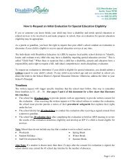 How to Request an Initial Evaluation for Special Education Eligibility