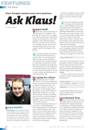 Ask Klaus - Linux Magazine