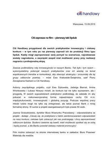 Wersja PDF (49 KB) - Citibank Handlowy