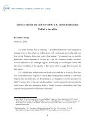 Taiwan's Election and the Future of the US-Taiwan Relationship: No ...