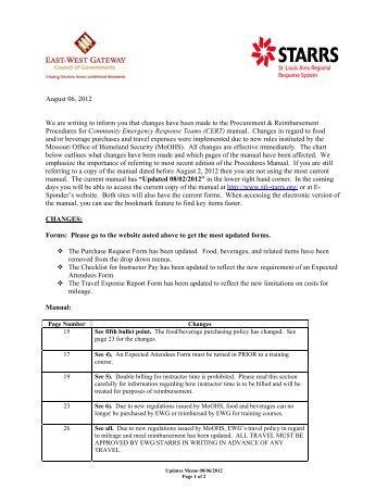CERT: Equipment Maintenance and Inventory Procedures Memo